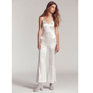 💛FINAL CUT💛 Free People Silver Crush Jumpsuit